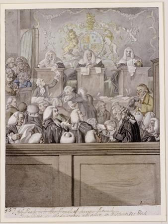 Term Time - or the Lawyers All Alive in Westminster Hall by Robert Dighton