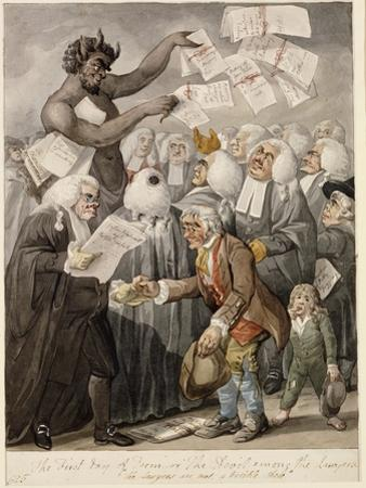 The First Day of Term - or the Devil Among Lawyers by Robert Dighton