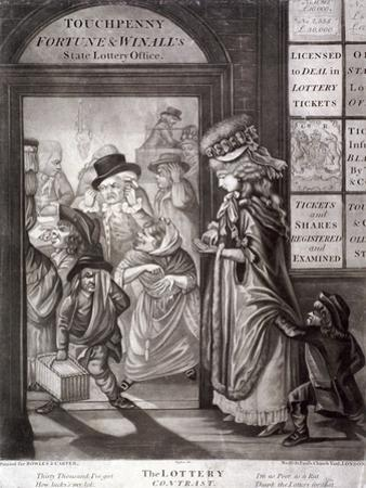 The Lottery Contrast, 1760 by Robert Dighton