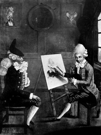 The Macaroni Painter, or Billy Dimple Sitting for His Picture, 1770 by Robert Dighton