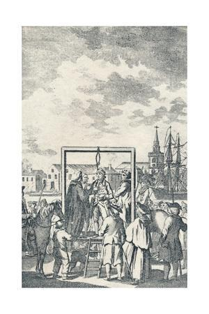 'A Pirate hanged at Execution Dock', c1795