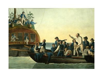 Mutineers Turning Lieutenant Bligh and Part of the Officers and Crew from His Majesty's Ship the Bo