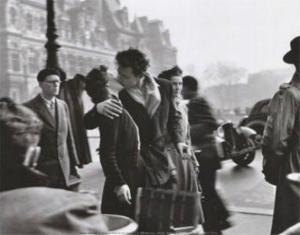 Kiss By The Hotel De Ville, 1950 by Robert Doisneau