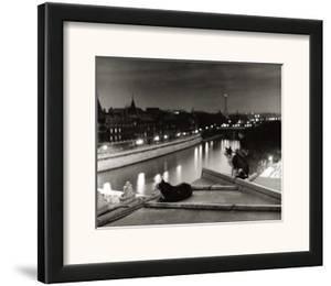 Paris, Cats at Night by Robert Doisneau