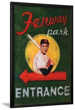 Robert Downs Fenway Park Entrance Boston Red Sox Sports Poster Print