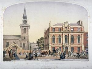 St James's Church, Piccadilly and the New Vestry Hall, London, C1856 by Robert Dudley
