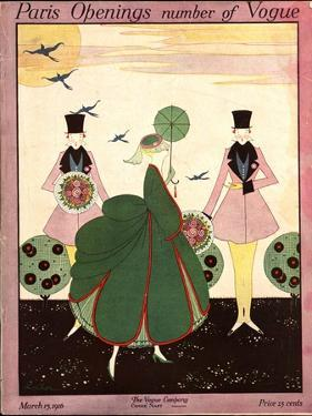 Vogue Cover - March 1916 by Robert E. Locher