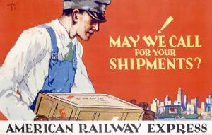 American Railway Express Shipment by Robert Edmund Lee