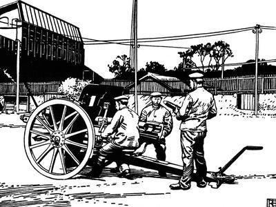 Krupp Gun Recoil Test