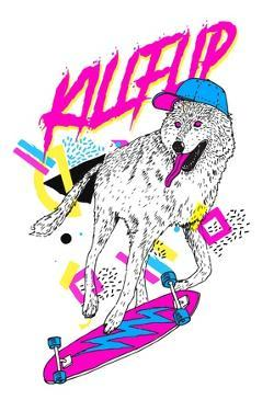 Kickflip Wolf by Robert Farkas