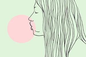 Pink Bubble Gum by Robert Farkas
