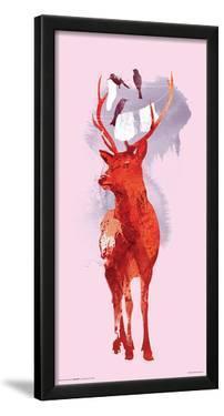 Robert Farkas- Deer And Birds by Robert Farkas