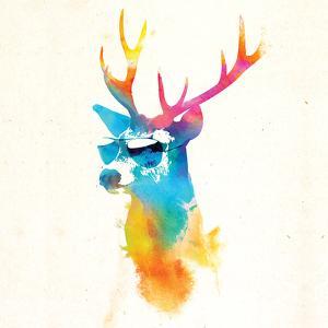 Robert Farkas- Deer With Glasses by Robert Farkas
