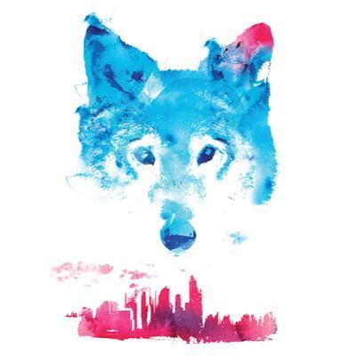 Robert Farkas- Fox And City by Robert Farkas