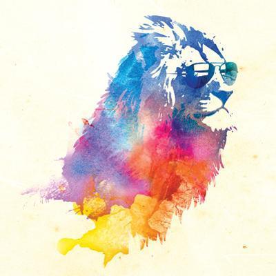 Robert Farkas- Lion With Glasses by Robert Farkas