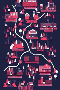 The Walking Dead Map by Robert Farkas