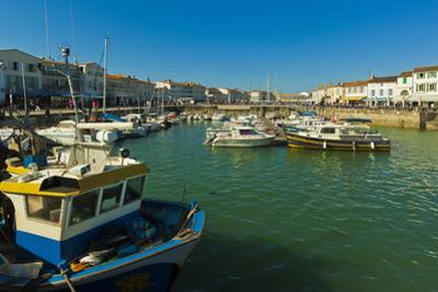 Fishing boats and yachts in the quays at this north coast town, Saint Martin de Re, Ile de Re, Char by Robert Francis