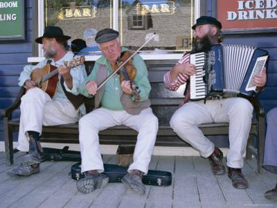 Group Playing at Sovereign Hill, West of Melbourne, Australia by Robert Francis