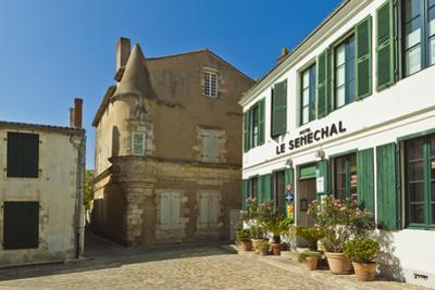 Hotel Senechal on Rue Gambetta in the island's principal western town. Ars en Re, Ile de Re, Charen by Robert Francis