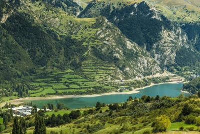 Lake Lanuza reservoir in the scenic upper Tena Valley of the Aragon Pyrenees, Lanuza, Sallent de Ga by Robert Francis