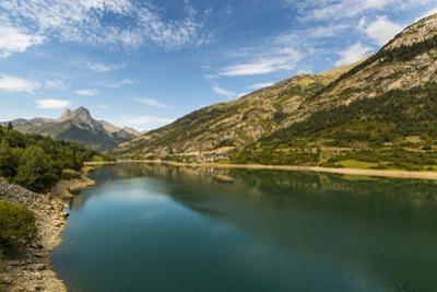 Lanuza lake and village and Pena Foratata peak in the scenic upper Tena Valley, Sallent de Gallego, by Robert Francis