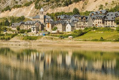 Lanuza village, abandoned after a dam created Lake Lanuza, now rebuilt, Sallent de Gallego, Pyrenee by Robert Francis