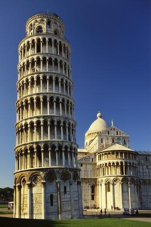 Leaning Tower of Pisa and Pisa Cathedral, Piazza Del Duomo, Pisa, Tuscany, Italy