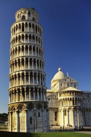 Leaning Tower of Pisa and Pisa Cathedral, Piazza Del Duomo, Pisa, Tuscany, Italy by Robert Francis