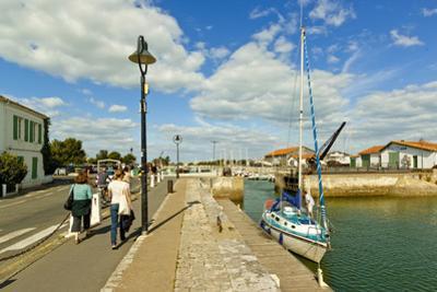 Marina at Quai de La Criee in the island's principal western town, Ars en Re, Ile de Re, Charente-M by Robert Francis
