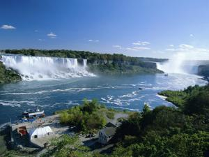 Niagara Falls on the Niagara River That Connects Lakes Ontario and Erie, New York State, USA by Robert Francis