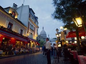 Place Du Tertre, with the Dome of Sacre Coeur Behind, Montmartre, Paris, France by Robert Francis
