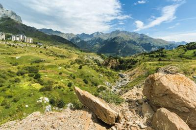 Rio Gallego and the Tena Valley beyond, below Formigal ski resort, Formigal, Sallent de Gallego, Hu by Robert Francis