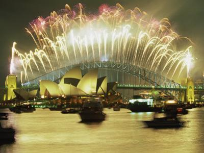 Spectacular New Year's Eve Firework Display, Sydney, New South Wales, Australia, Pacific by Robert Francis