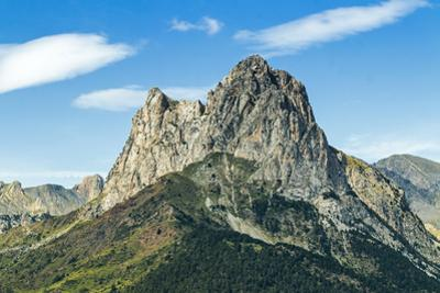 The 2341m limestone peak Pena Foratata, a great landmark in scenic upper Tena Valle, Sallent de Gal by Robert Francis