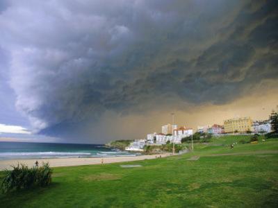 Thunderstorm Advancing Over Bondi Beach in the Eastern Suburbs, Sydney, Australia by Robert Francis