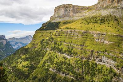 View west along the Ordesa Valley's north rim to distant Otal Peak, Ordesa National Park, Pyrenees, by Robert Francis