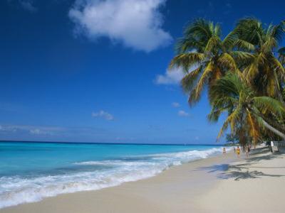 Worthing Beach on South Coast of Southern Parish of Christ Church, Barbados, Caribbean