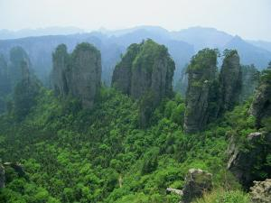 Zhangjiajie Forest Park in Wulingyuan Scenic Area in Hunan Province, China by Robert Francis