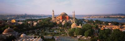 Turkey, Istanbul, Aya Sofya Museum with Golden Horn Behind
