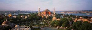 Turkey, Istanbul, Aya Sofya Museum with Golden Horn Behind by Robert Frerck