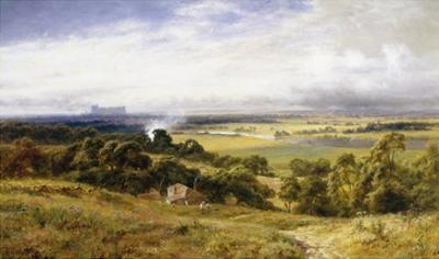 A View of Runnymede with Windsor Castle, England