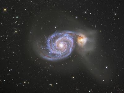 M51 (NGC 5194 and 5195) Colliding Galaxies in Canes Venatici