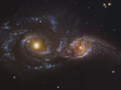 NGC 2207 and Ic 2163, Colliding Galaxies in Canis Majormosaic Data from the Hubble Legacy Archive