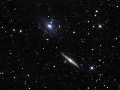 Ngc 5963 and 5965 Galactic Pair in Draco