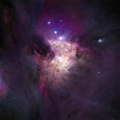 The Center of the Orion Nebula, Trapezium Cluster Hii Regions Within the Spiral Arms of Galaxies