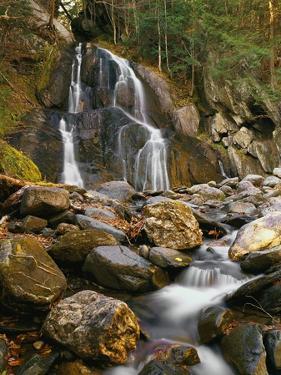 Waterfall Cascading over Rocks by Robert Glusic