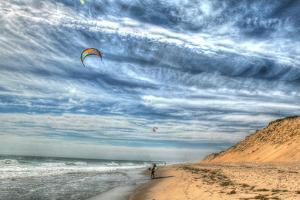 Cape Cod Kite Boarders by Robert Goldwitz