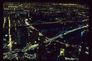 East River NYC Bridges from WTC by Robert Goldwitz