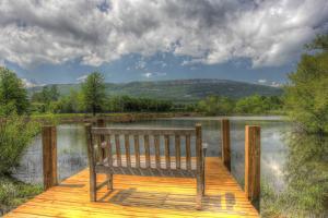 Mountain Dock and Bench II by Robert Goldwitz