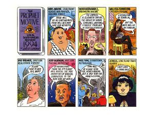 Talk of the Town comic strip showing local psychics Mrs. Wayne, Herb Herna… - New Yorker Cartoon by Robert Grossman